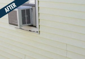 An 'after' image of residential siding cleaned by Mr. J's Services.