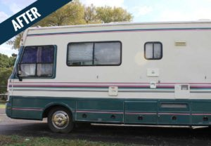 An 'after' image of an RV cleaned by Mr. J's Services.